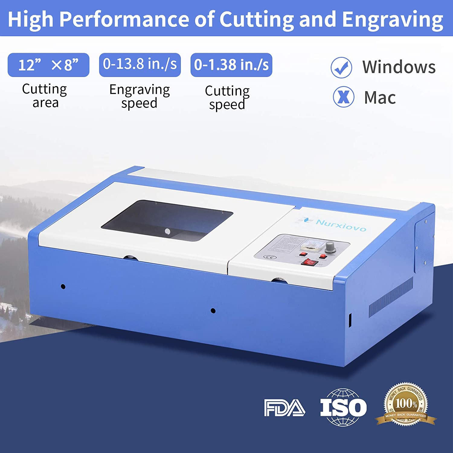 Laser Cutter-SUNCOO K40 Laser Engraver DIY Engraving Machine for Wood, Glass, Acrylic 40W CO2 with Air Exhaust Fan USB Port Only for Windows System ...