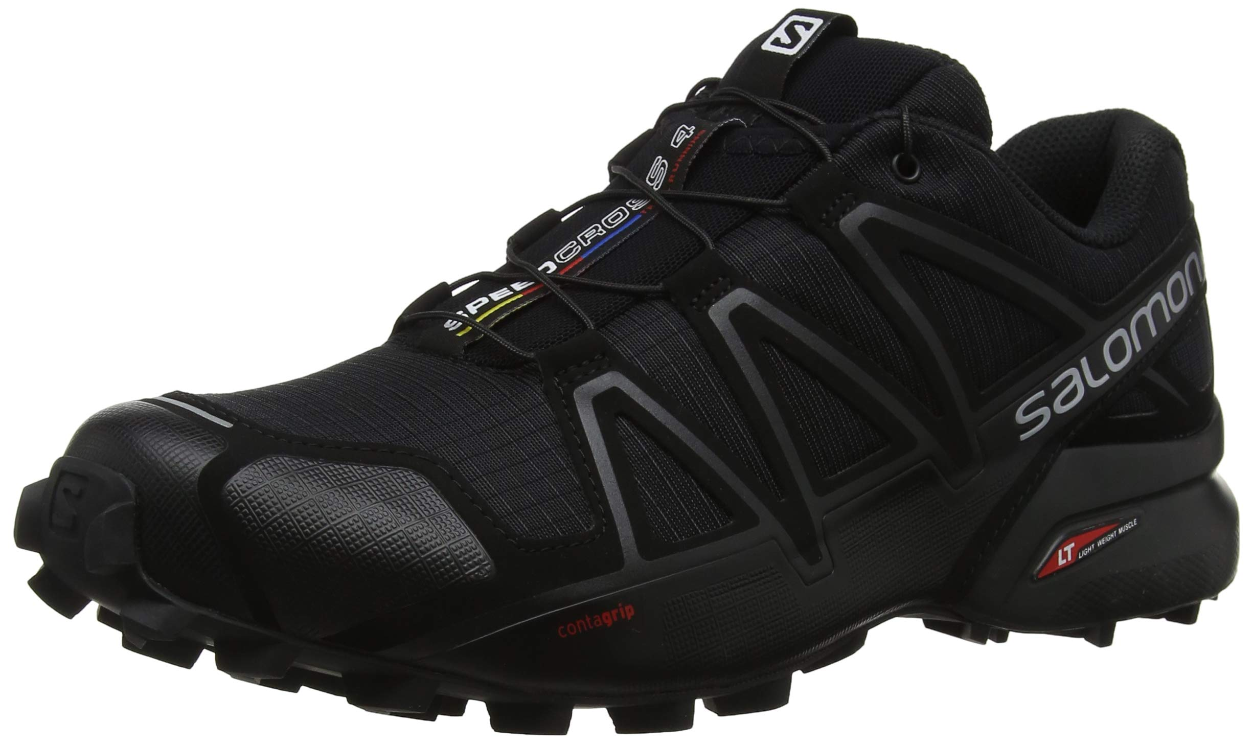 Salomon Men's Speedcross 4 Trail Runner, Black A1U8, 10 M US by SALOMON