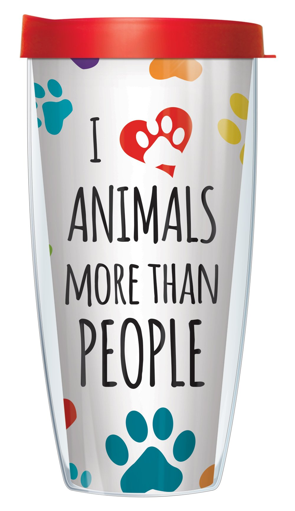 I Love Animals Tumbler Cup 22oz Mug with Lid by Signature Tumblers (Image #1)