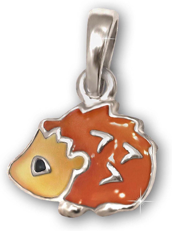 CLEVER SCHMUCK-SET ciondolo Mini riccio 7/mm Arancione Marrone Nero Laccato con catena ancora 40/cm in argento Sterling 925/per bambini