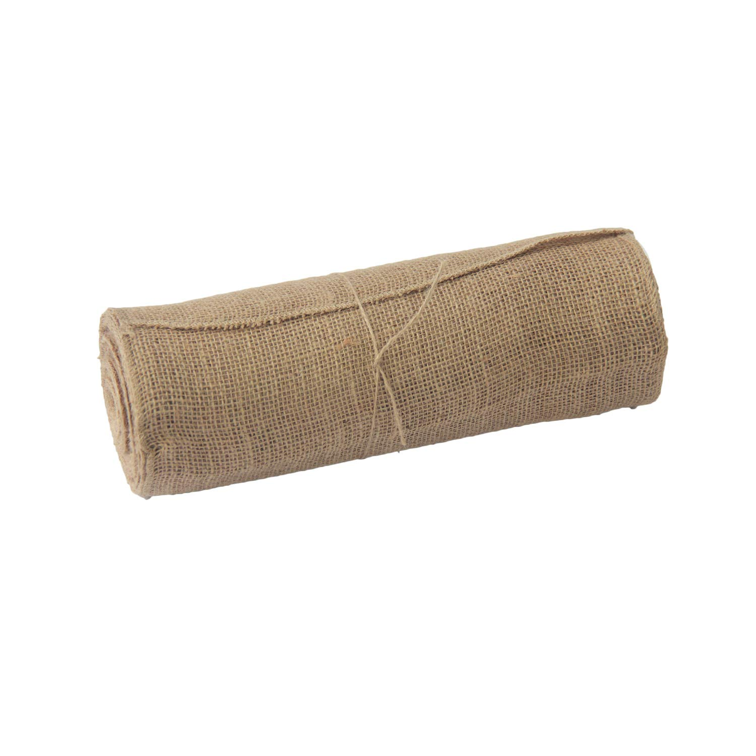 Jute Burlap Table Runner Roll - Natural 12'' x 10 Yards Hessian Tablue Runner with Finised Edges Banquet Wedding Party Event Decoration and Crafts (12'' x 10 Yards,1)