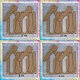 Lote de plantillas de manos para fofuchas: 12 cm, 10 cm, 8 cm