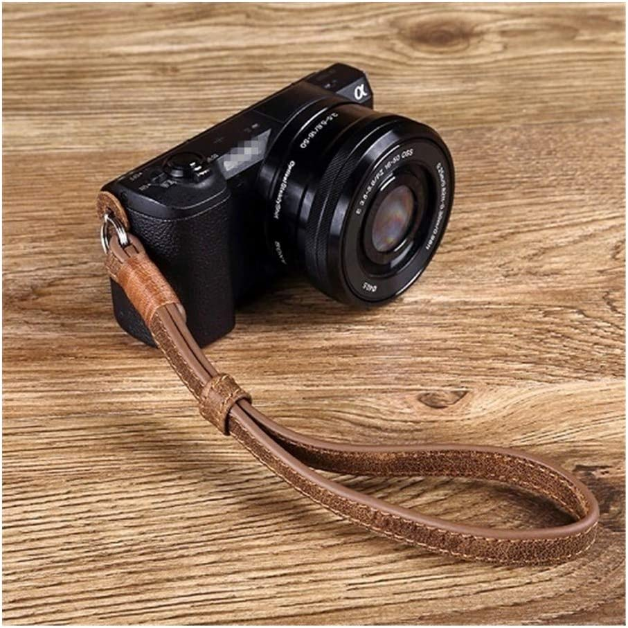 Camera Belt Accessory Camera Genuine Leather Wrist Strap Hand Strap for Sony DSLR Camera Grip Strap Durable Color : Brown