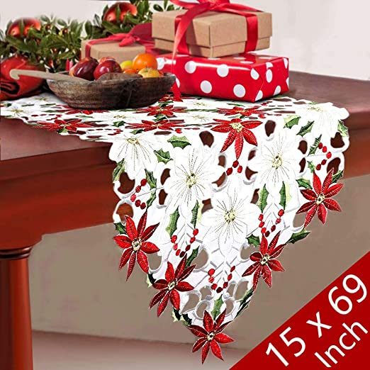 String Decoration Poinsettia Holly Leaves Winter Christmas Holiday Party 100 ft
