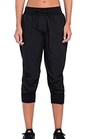 4a140066cf35e Cody Lundin® Femme Pantalon Sport 3 4 Corsaire avec filet, Legging de  Running
