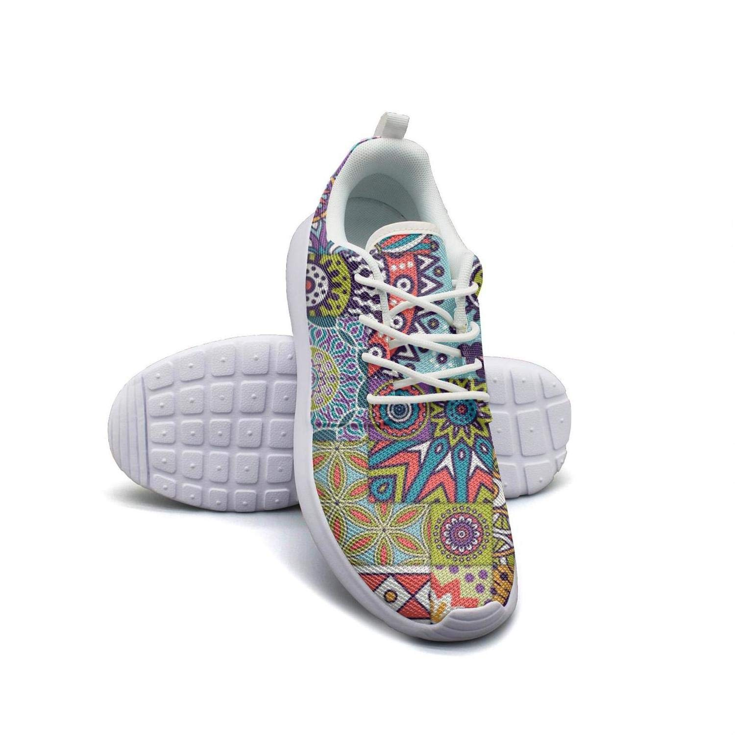 Bohemian Style Patroon Mandala Color Womans Canvas Casual Shoes Sneakers New Sports Shoes