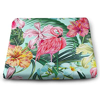 Sanghing Customized Exotic Jungle Leaf, Hibiscus, Orchid Flower, Pink Flamingos Hawaiian Style 1.18 X 15 X 13.7 in Cushion, Suitable for Home Office Dining Chair Cushion, Indoor and Outdoor Cushion.: Home & Kitchen