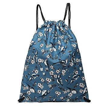 Kono cordón mochila escuela natación gimnasio PE Bolsas de hombro mochila deportes al aire libre (1406-16J Azul marino): Amazon.es: Deportes y aire libre