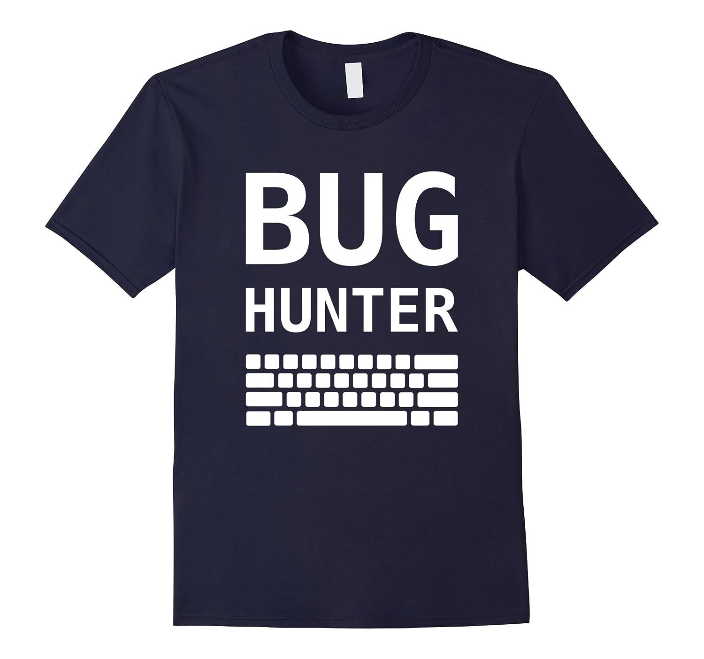 BUG HUNTER & Keyboard Software Test Engineer T-Shirt Design-TH