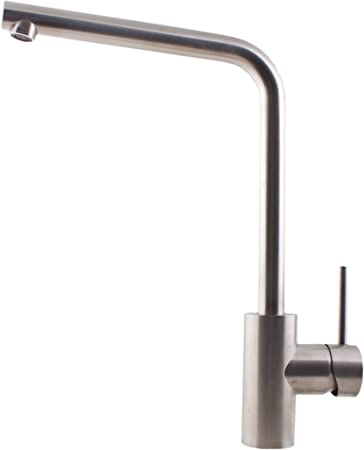 F J Chute 74826 Solid Stainless Steel Kitchen Sink Mixer Tap Amazon Com