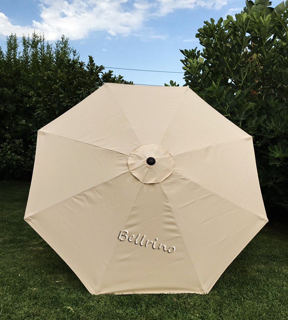 BELLRINO DECOR Replacement Taupe Strong and Thick Umbrella Canopy for 9ft 8 Ribs Taupe Canopy Only BEIGE-98