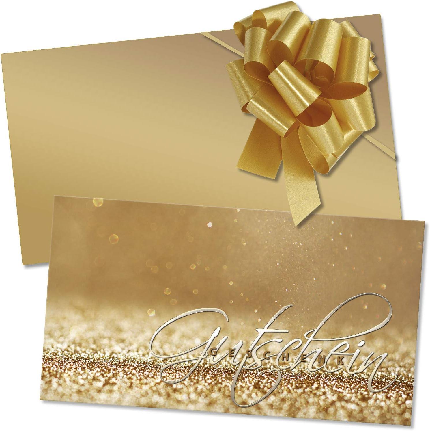 10 Kuverts Geschenkgutscheine f/ür Schmuckwaren Schmuckhandel Schmuckgesch/äft 10 Schleifen SC1263 10 Gutscheinkarten Vorderseite gl/änzend