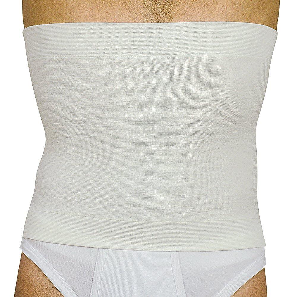 Elan 500627 - Pancera Termica Fascia Vita in Lana e Cotone Colore Bianco Altezza 27 E500627