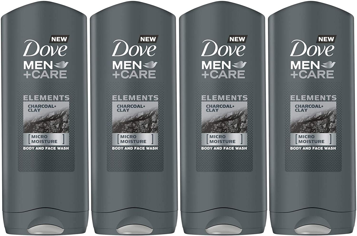 Amazon Com Dove Men Care Elements Body Wash Charcoal And Clay 13 5 Ounce 400 Ml Pack Of 4 Imported Version Beauty
