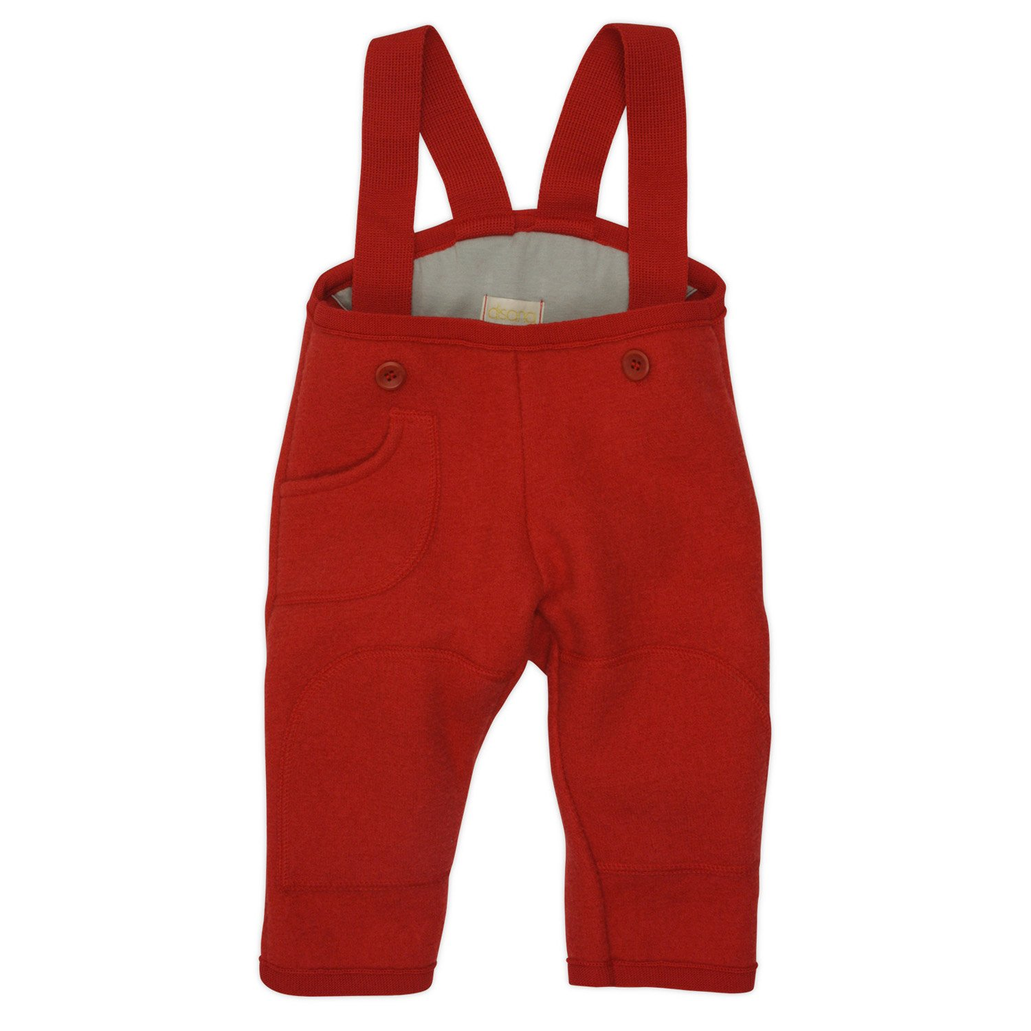 Baby Dungarees / Trousers in Organic Boiled Merino Wool Red 74/80 6-12m Disana 26544-082-00511-21