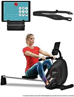 Sportstech RSX400 Máquina de Remo Plegable; Incluye App Deportiva para Smartphone y Correa de Pulso