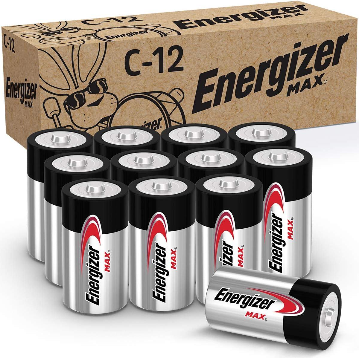 Energizer MAX C Batteries, Premium Alkaline C Cell Batteries (12 Battery Count): Health & Personal Care