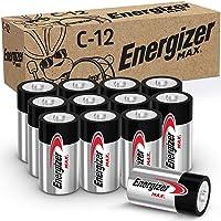 Energizer MAX C Batteries, Premium Alkaline C Cell Batteries (12 Battery Count)