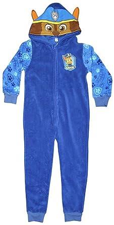 5b90ee2ca041 Paw Patrol Chase Fleece Onesie Boys Hooded All In One Blue Sleepsuit  Pyjamas (2-3 Years)