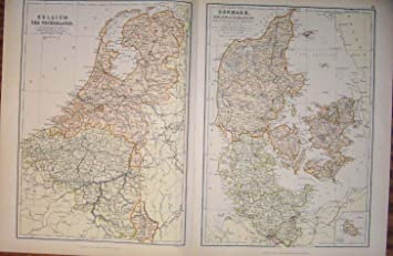 Belgium Netherlands Denmark Geographical Antique Map: Amazon ... on geographical map norway, geographical map hungary, physical map europe belgium, geographical map ireland, aerial photograph of belgium, physical characteristics of belgium, geographical map portugal, detailed map belgium, geographical map romania, geographical map denmark, geographical map finland, major rivers of belgium, geographical map germany,