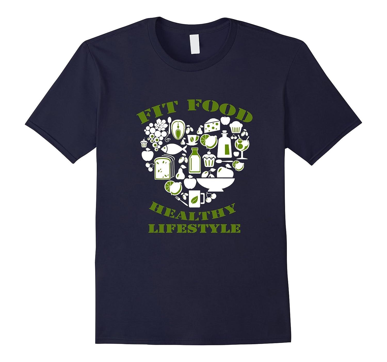fit food healthy my lifestyle tshirt-Art