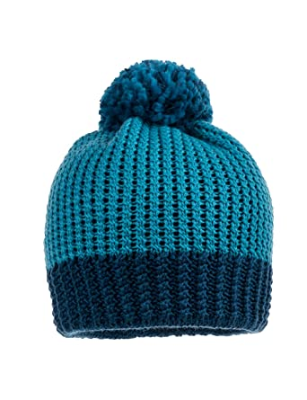 7f498a34fba6 maximo Boy s Mütze mit Struktur, Pompon Hat, Blue (Petrol Nautic 4470), 53  cm (Size  53)  Amazon.co.uk  Clothing