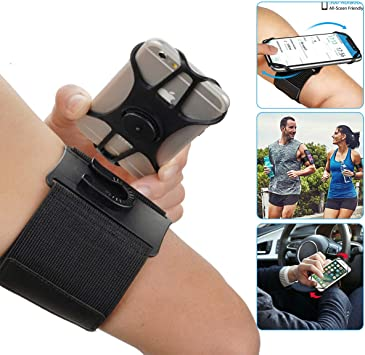 Phone Armband, 360° Rotatable Running Armband for iPhone 11 Pro MAX X XR XS 8 7 6 5 6s Plus, For Galaxy S20 Ultra S10 Plus with Elastic Arm Band for Running Working Hiking: Amazon.es: Electrónica