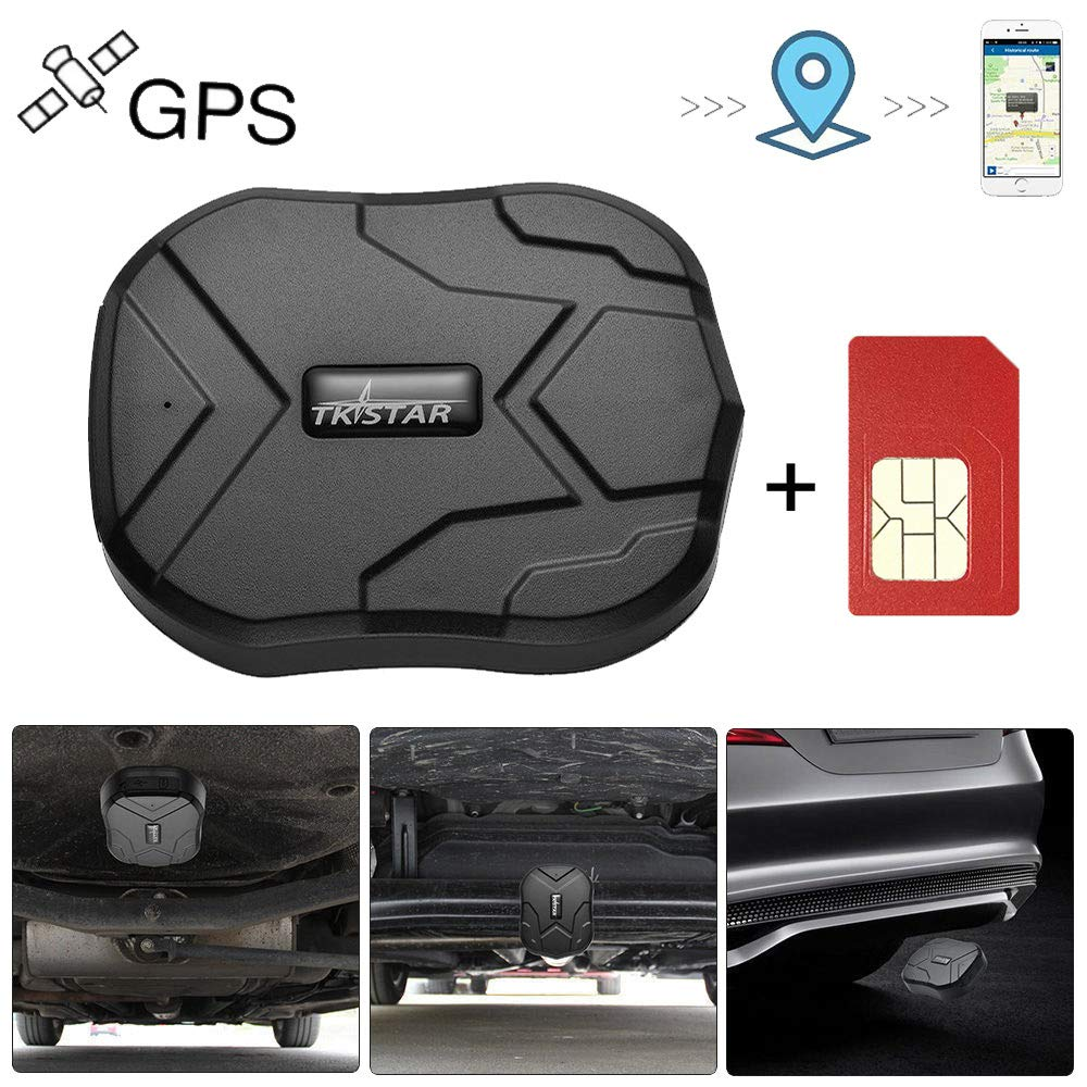 GPS Tracker for Vehicles Hidden Magnetic Vehicles GPS Tracker Locator Real Time GPS Tracker for Car Motorcycles Trucks with Anti-Theft Alarm SIM Card - TK905 by TK-STAR