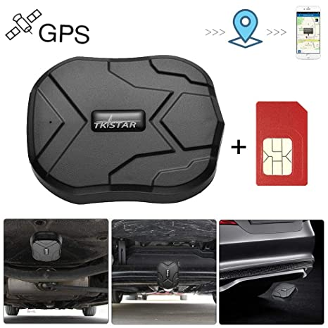 GPS Tracker for Vehicles Hidden Magnetic Vehicles GPS Tracker Locator Real Time GPS Tracker for Car Motorcycles Trucks with Anti-Theft Alarm SIM Card ...