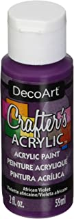 product image for DecoArt DCA74-3 Crafter's Acrylic Paint, 2-Ounce, African Violet