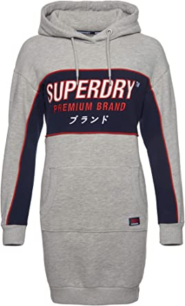 Superdry Robe Graphic Panel Sweat Dress Grey: