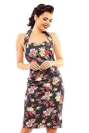 00f78eff527 Looking Glam Robe ajustée au Crayon rétro Vintage avec imprimé Floral   Amazon.fr  Vêtements et accessoires