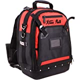 XtremepowerUS Tool Bag Organizer, Black and Red (Tool Backpack)
