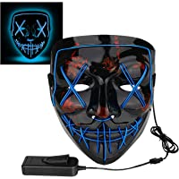 Poptrend Halloween Mask LED Light up Mask for Festival Cosplay Halloween Costume Masquerade Parties,Carnival,Gifts,
