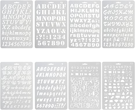 20Pcs Letter Stencils for Painting on Wood Alphabet Stencils Template Art Crafts