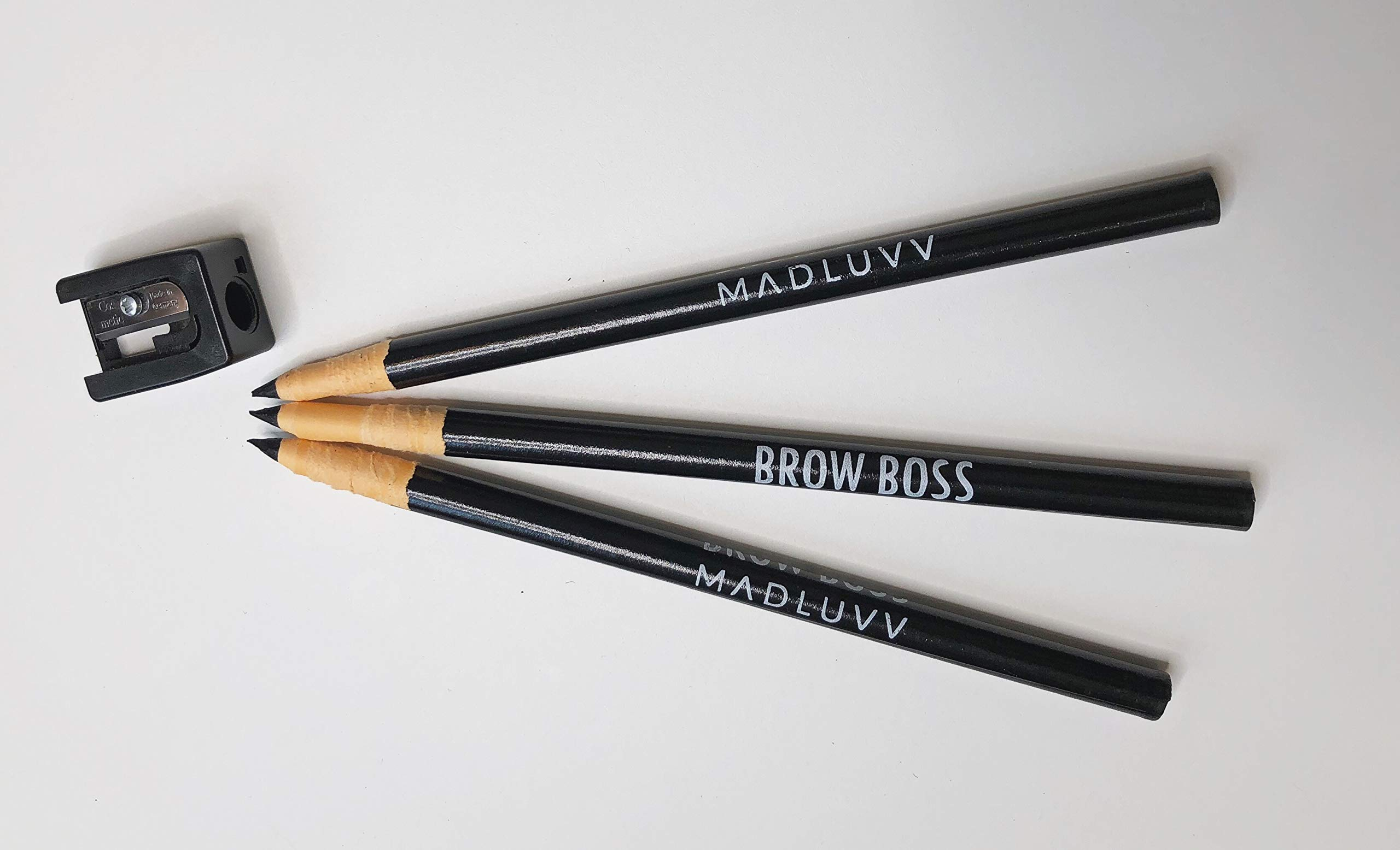 Best Microblading Pre Draw Pencils, Black with Sharpener (3 Pack)