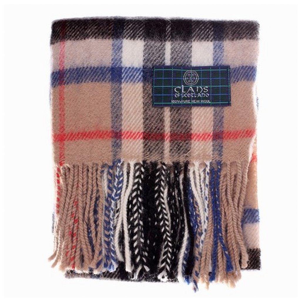 Thomson Camel tartan –  lana scozzese Clan sciarpe, marroncino Clans of Scotland