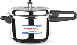 Butterfly Blue Line Stainless Steel Pressure Cooker, 7.5-Liter