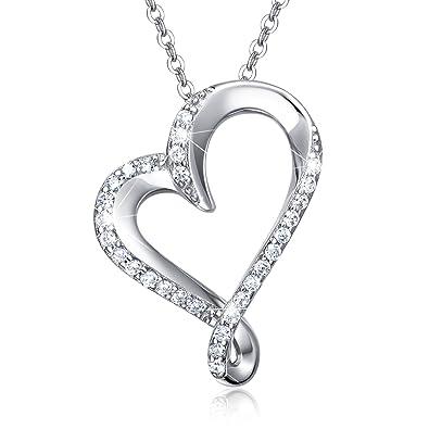 """76f4de2894f4d Billie Bijoux""""Amour sans fin"""" Collier Infini Femme Collier en  Argent 925 Pendentif diamanté"""