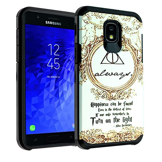 size 40 8f5d1 873df Harry Potter Always Galaxy J3 2018 Case,J3 Achieve Case,J3 Star  Case,Express/Amp Prime 3 Case, J3 V 3rd Gen Case, DURARMOR Dual Layer  Hybrid ...