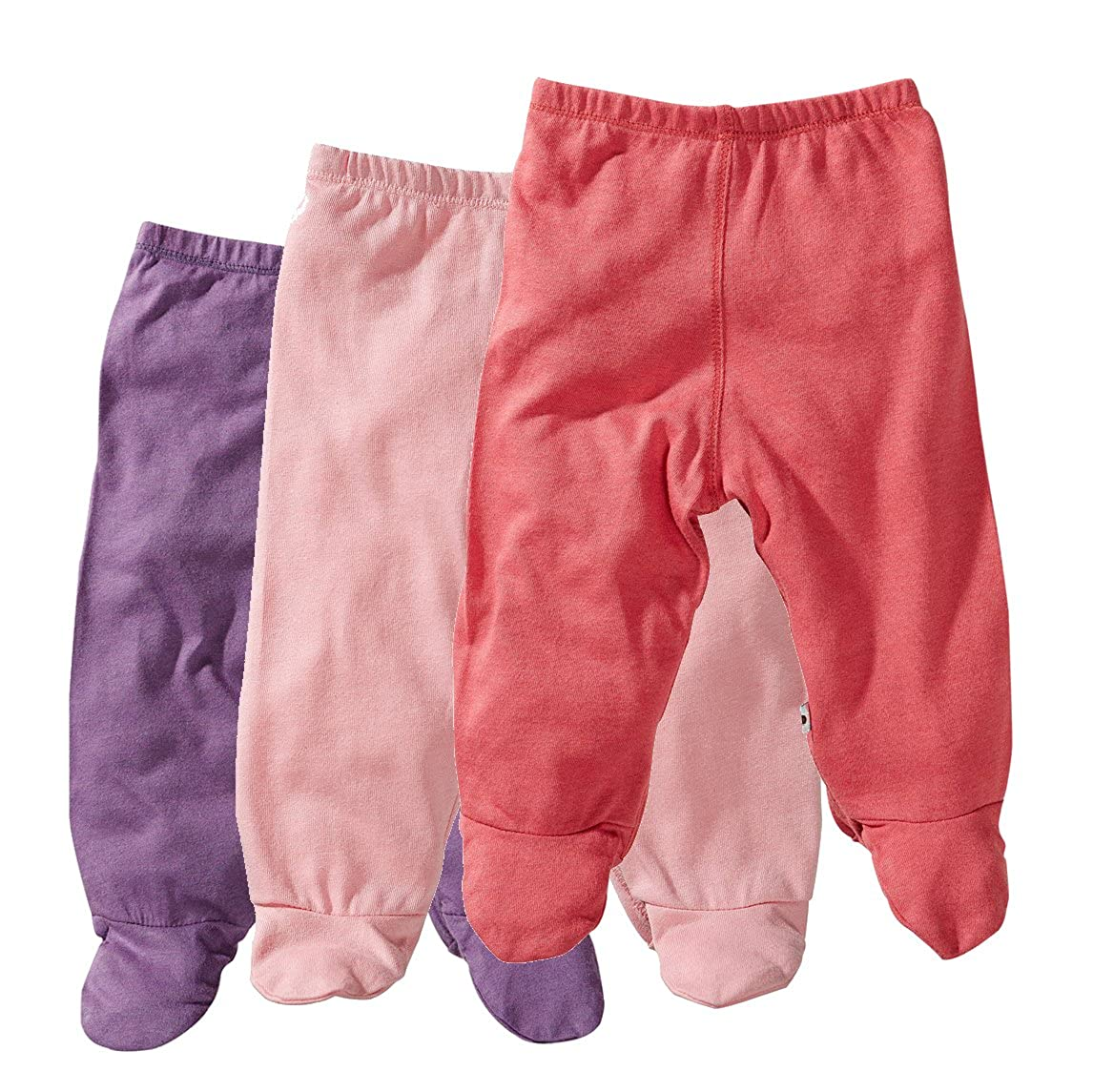 Baby Soy 3-piece Footie Pant Set for Girls