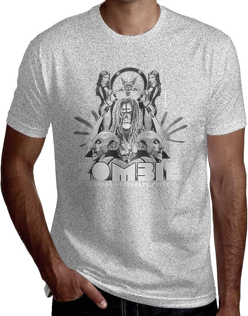 EKRBYB Mens Cool Tee Shirt ROB Zombie Shadow Tshirt Black N//A