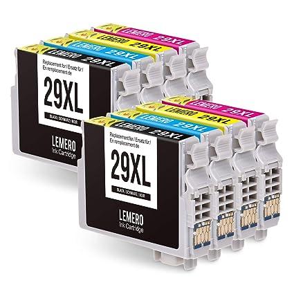 8 LEMERO 29XL 29 XL T2991-4 XL Cartuchos de Tinta Compatible para ...