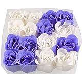 SODIAL (R) 16 pz sapone petali di rosa Rosa Bianca viola doccia profumati
