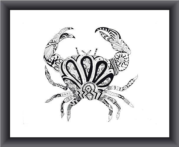 Amazon com: Cancer Birthday Crab Zentangle 8