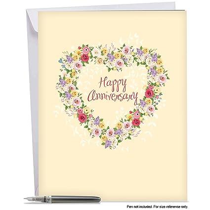 Amazon.com : J6578AANG Jumbo Card: Heartfelt Anniversary, Featuring ...