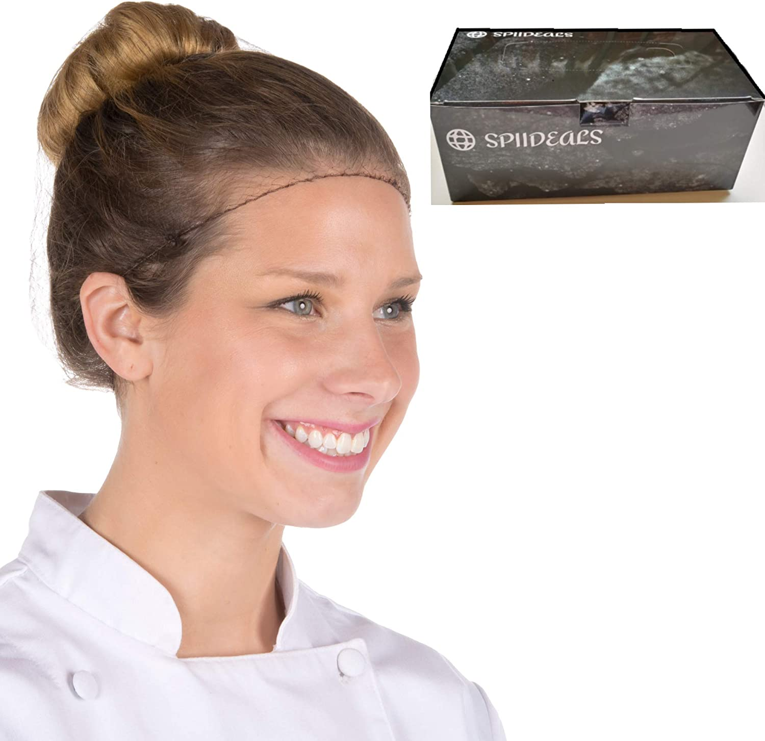 Hairnets for Women for Work Lightweight and Invisible - Disposable Honey Comb Buffet for Cooking or Medical Use with Dispensing Box - 22