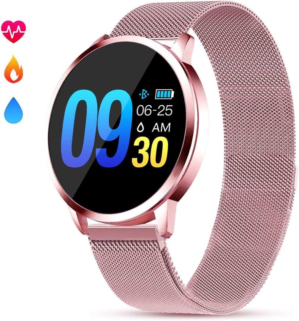 GOKOO Smartwatch Mujer Rosa Impermeable Reloj Inteligente Elegante ...