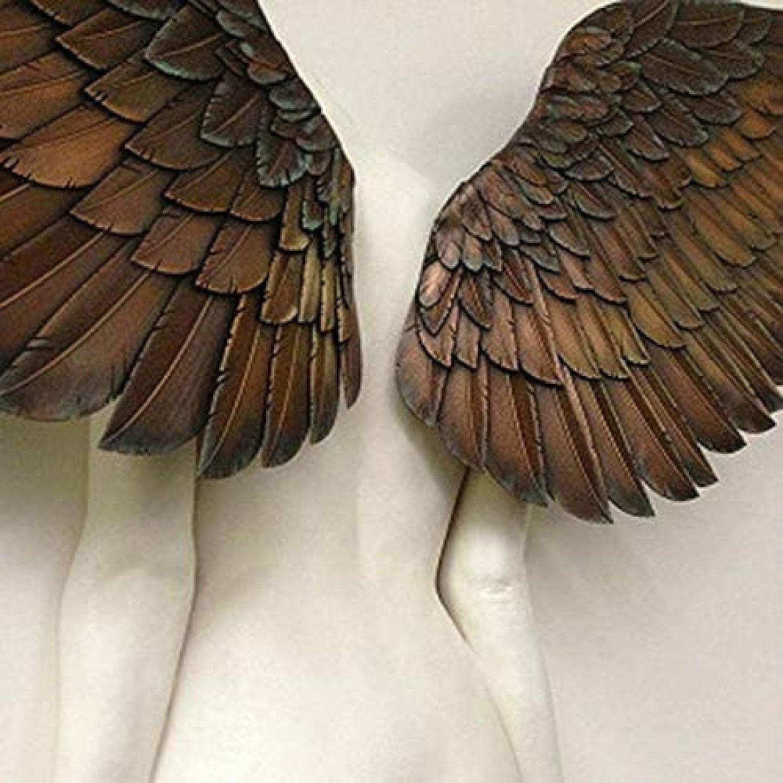 Scultura in bassorilievo con Ali dAngelo Bassorilievo Sculture Artisinal Design ZURITI Statua 3D della Decorazione della Parete della Scultura di Arte di Angelo per Soggiorno Camera da Letto