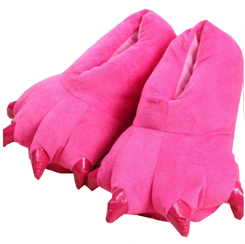 Warme Kuschelige Weiche Raubtier Hausschuhe für Sie und Ihn Bärentatze in Verschiedenen Farben Größe28-45 (M(Größe VrPzMNR